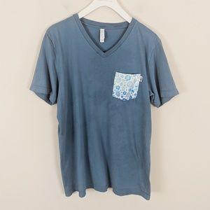 ♥️ Sale ♥️D3 • Slate Blue VNeck Pocket Tee